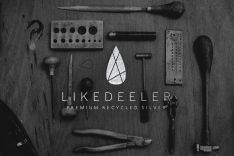 LIKEDEELER - Premium recycled silver | Logo design